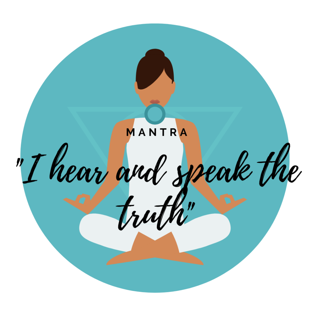 throat chakra affirmation, throat chakra mantra
