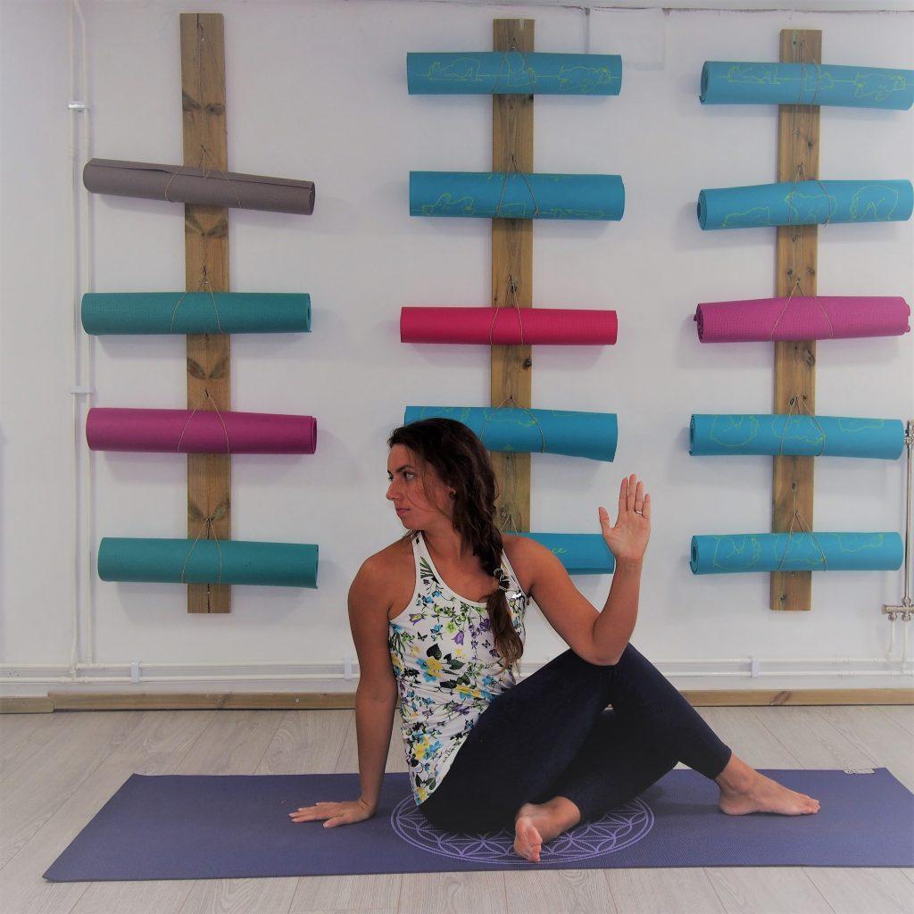 Solar Plexus Chakra, Half Lord of the Fish Pose, yoga for solar plexus chakra, yoga for IBS, yoga for digestion, solar plexus chakra