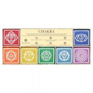 7 chakra candle set, chakra candles