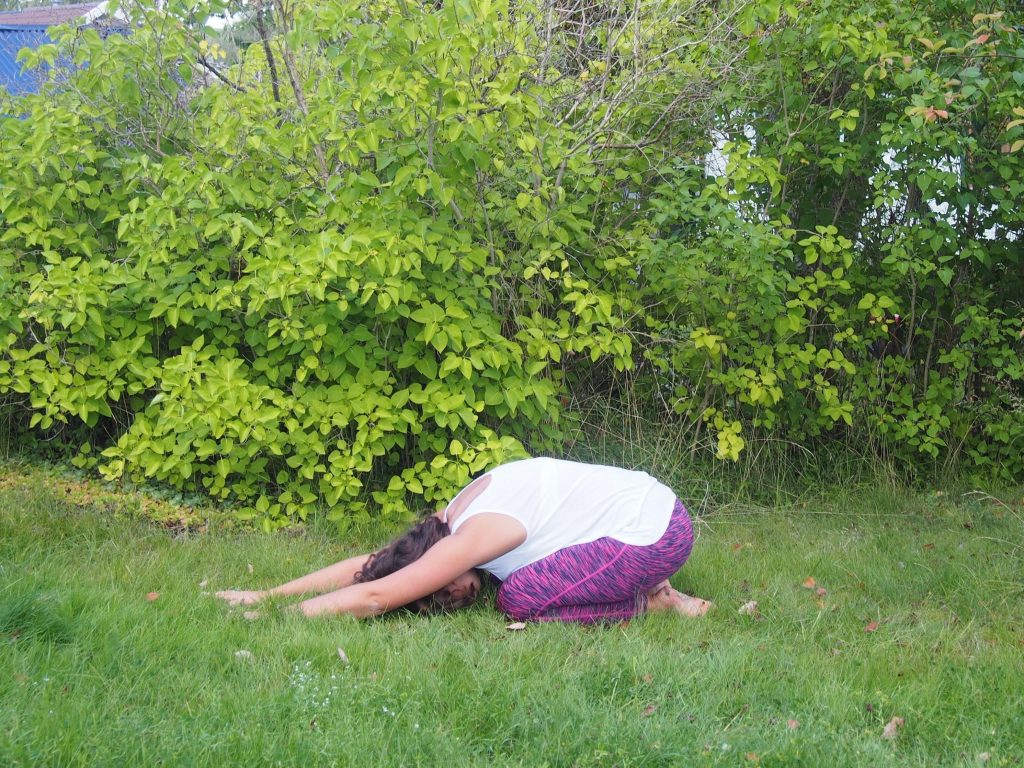 balasana, child's pose, yoga for 3rd eye
