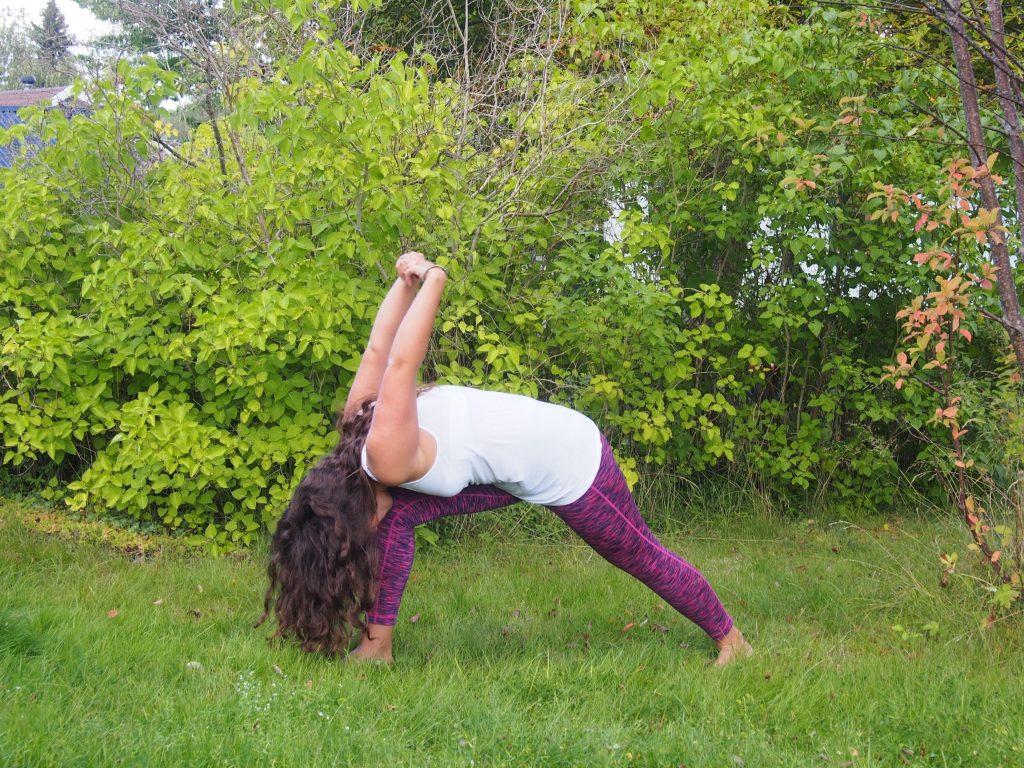 humble warrior, yoga for 3rd eye