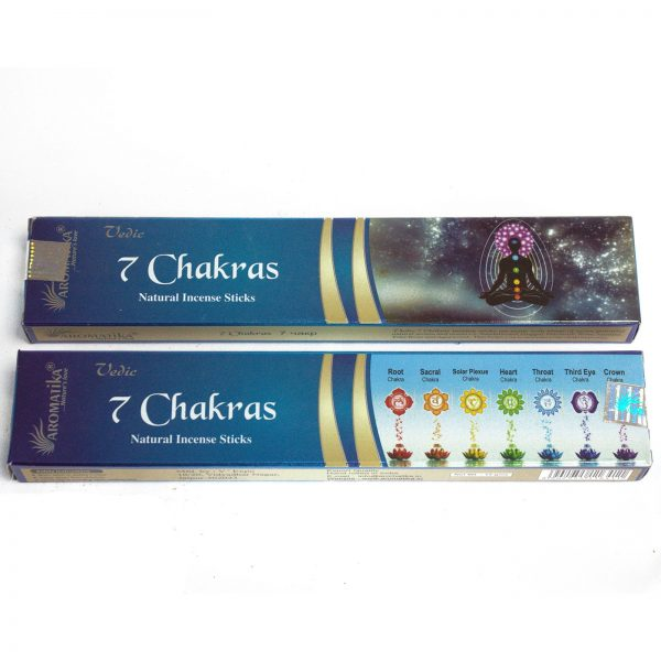 incense 7 chakras, pack 7 chakras incense, 7 chakras incense sticks